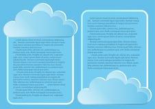 Σελίδα 4 5 Πρότυπο με τα αφηρημένα σύννεφα τελών μπλε ουρανού Στοκ Φωτογραφίες