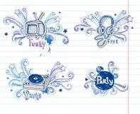 Σελίδα της μουσικής doodles, Στοκ εικόνες με δικαίωμα ελεύθερης χρήσης