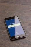 Σελίδα Facebook Στοκ φωτογραφία με δικαίωμα ελεύθερης χρήσης