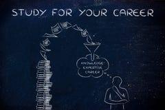 Σελίδες βιβλίων που φέρνουν την πείρα, μελέτη για τη σταδιοδρομία σας Στοκ φωτογραφία με δικαίωμα ελεύθερης χρήσης