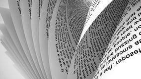 Σελίδες ενός βιβλίου απεικόνιση αποθεμάτων