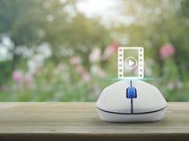 Σε απευθείας σύνδεση έννοια κινηματογράφων Στοκ εικόνα με δικαίωμα ελεύθερης χρήσης