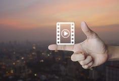 Σε απευθείας σύνδεση έννοια κινηματογράφων Στοκ Εικόνες