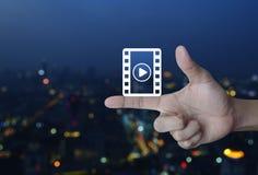 Σε απευθείας σύνδεση έννοια κινηματογράφων Στοκ εικόνες με δικαίωμα ελεύθερης χρήσης