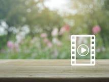 Σε απευθείας σύνδεση έννοια κινηματογράφων Στοκ Φωτογραφία
