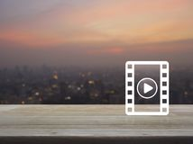 Σε απευθείας σύνδεση έννοια κινηματογράφων Στοκ φωτογραφία με δικαίωμα ελεύθερης χρήσης