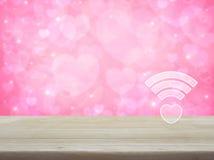 Σε απευθείας σύνδεση σύνδεση αγάπης Διαδικτύου, έννοια ημέρας βαλεντίνων Στοκ Εικόνες