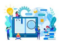 Σε απευθείας σύνδεση εκπαίδευση, ε-βιβλιοθήκη, επικοινωνία και μελέτη των σπουδαστών με τη βοήθεια των σύγχρονων τεχνολογιών μέσω στοκ εικόνες