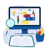 Σε απευθείας σύνδεση επίπεδο υπόβαθρο εκπαίδευσης με τα μεγάλους βιβλία και τους ανθρώπους Που διαβάζονται οι άνθρωποι κρατούν στοκ φωτογραφία με δικαίωμα ελεύθερης χρήσης