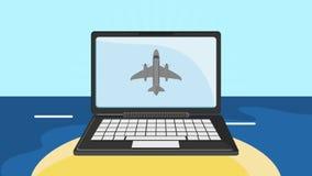 Σε απευθείας σύνδεση καθορισμός εισιτηρίων HD πτήσης διανυσματική απεικόνιση