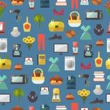 Σε απευθείας σύνδεση καταστημάτων καταστημάτων ιστοχώρου ενδυμάτων και αγαθών απεικόνιση υποβάθρου σχεδίων αγορών διανυσματική άν Στοκ Φωτογραφίες