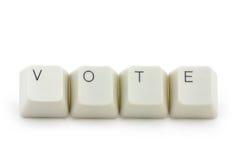σε απευθείας σύνδεση ψηφοφορία έννοιας Στοκ Εικόνες