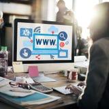 Σε απευθείας σύνδεση έννοια απεικόνισης Διαδικτύου World Wide Web Στοκ φωτογραφία με δικαίωμα ελεύθερης χρήσης