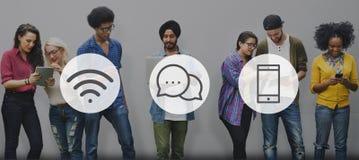 Σε απευθείας σύνδεση έννοια επικοινωνίας μηνύματος ασύρματης τεχνολογίας Στοκ εικόνες με δικαίωμα ελεύθερης χρήσης