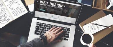 Σε απευθείας σύνδεση έννοια πολυμέσων Διαδικτύου δημιουργικότητας ιδεών Desegn Ιστού Στοκ Εικόνες