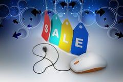 Σε απευθείας σύνδεση έννοια πωλήσεων Στοκ Εικόνες