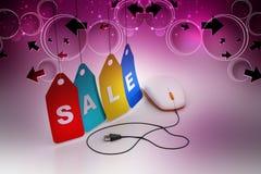 Σε απευθείας σύνδεση έννοια πωλήσεων Στοκ φωτογραφία με δικαίωμα ελεύθερης χρήσης