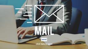 Σε απευθείας σύνδεση έννοια σύνδεσης παγκόσμιων επικοινωνιών μηνυμάτων ταχυδρομείου Στοκ Εικόνες