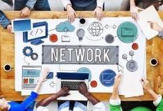 Σε απευθείας σύνδεση έννοια τεχνολογίας Διαδικτύου σύνδεσης δικτύων Στοκ φωτογραφίες με δικαίωμα ελεύθερης χρήσης