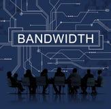 Σε απευθείας σύνδεση έννοια τεχνολογίας σύνδεσης Διαδικτύου εύρους ζώνης στοκ εικόνα με δικαίωμα ελεύθερης χρήσης