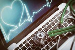 Σε απευθείας σύνδεση έννοια υγειονομικής περίθαλψης Στοκ Εικόνες