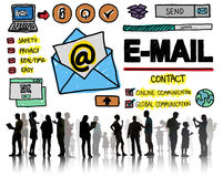 Σε απευθείας σύνδεση έννοια Technologgy μηνύματος αλληλογραφίας ηλεκτρονικού ταχυδρομείου Στοκ Εικόνες