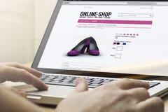 Σε απευθείας σύνδεση αγορές υπολογιστών ελεύθερη απεικόνιση δικαιώματος