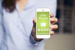 Σε απευθείας σύνδεση αγορές app Στοκ Φωτογραφία
