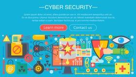 Σε απευθείας σύνδεση ασφάλεια επικοινωνίας, προστασία υπολογιστών, cuber σχέδιο προτύπων infographics secutity, στοιχεία επιγραφώ Στοκ Εικόνα
