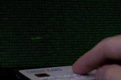 Σε απευθείας σύνδεση ασφάλεια Διαδικτύου πληρωμής πιστωτικών καρτών Στοκ Εικόνα