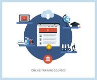 Σε απευθείας σύνδεση εκπαίδευση και σειρές μαθημάτων Στοκ Εικόνα