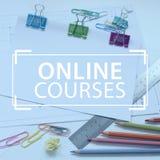 Σε απευθείας σύνδεση ε-εκμάθηση σειρών μαθημάτων Στοκ Φωτογραφία
