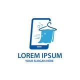 Σε απευθείας σύνδεση λογότυπο πλυντηρίων Στοκ Εικόνα