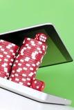Σε απευθείας σύνδεση πόκερ Στοκ Φωτογραφίες