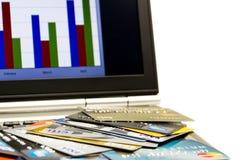 Σε απευθείας σύνδεση πληρωμή πιστωτικών καρτών Στοκ φωτογραφίες με δικαίωμα ελεύθερης χρήσης