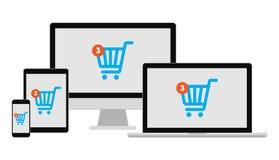 Σε απευθείας σύνδεση συσκευές αγορών απεικόνιση αποθεμάτων