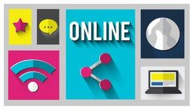 Σε απευθείας σύνδεση σύνδεση δικτύων που συνδέει την έννοια Διαδικτύου Στοκ εικόνες με δικαίωμα ελεύθερης χρήσης