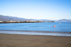 Σε αργή κίνηση κύματα στον κόλπο Santa Barbara Στοκ φωτογραφία με δικαίωμα ελεύθερης χρήσης