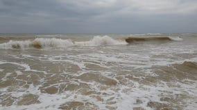 Σε αργή κίνηση περιβάλλον θύελλας κυμάτων ‹â€ ‹θάλασσας †απόθεμα βίντεο