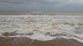 Σε αργή κίνηση περιβάλλον ψεκασμού θύελλας κυμάτων ‹â€ ‹θάλασσας †περιβαλλοντικό απόθεμα βίντεο