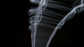 ΣΕ ΑΡΓΗ ΚΊΝΗΣΗ: Ο κομψός σγουρός καπνός ανυψώνει επάνω απόθεμα βίντεο