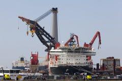 Σε βαθιά νερά σκάφος κατασκευής Στοκ εικόνα με δικαίωμα ελεύθερης χρήσης