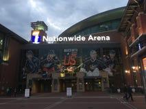 Σε εθνικό επίπεδο χώρος χόκεϋ πάγου του Οχάιου μπλε ζακετών του Columbus Στοκ εικόνα με δικαίωμα ελεύθερης χρήσης