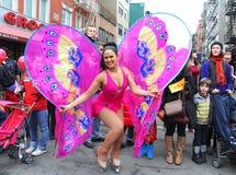 2014 σεληνιακή νέα παρέλαση έτους σε Chinatown, Νέα Υόρκη Στοκ Φωτογραφία