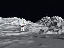 Σεληνιακός αστροναύτης διανυσματική απεικόνιση