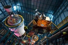 Σεληνιακό Διαστημικό Κέντρο Κένεντι της NASA διαστημοπλοίων ενότητας φεγγαριών Στοκ εικόνα με δικαίωμα ελεύθερης χρήσης