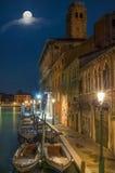 Σεληνόφωτο στη Βενετία στοκ εικόνες