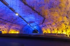 Σε μια σπηλιά Lærdalstunnel Στοκ Εικόνα