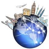 σε όλο τον κόσμο ταξιδιού ονείρου σχεδίων ελεύθερη απεικόνιση δικαιώματος