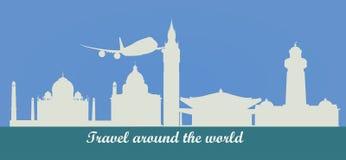 σε όλο τον κόσμο ταξιδιού απεικόνιση αποθεμάτων